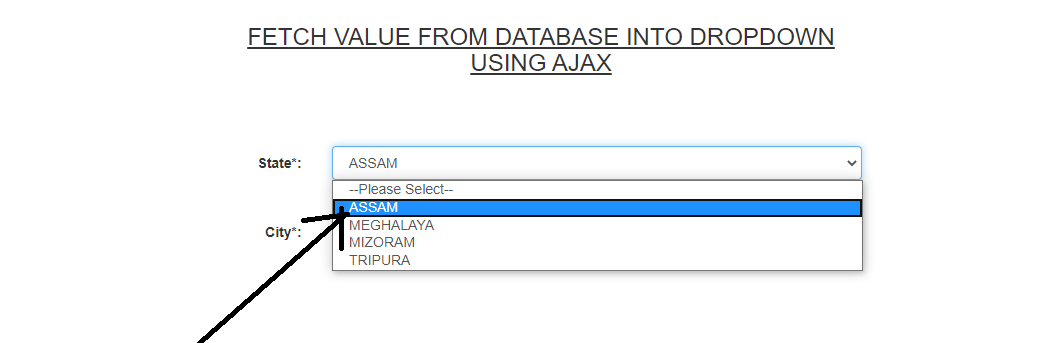 How to Append Data to Dropdownlist Using Jquery Ajax PHP
