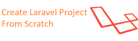 How to create laravel project from scratch step by step
