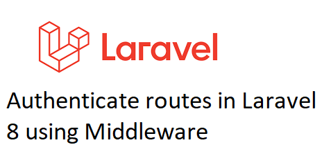 Authenticate Routes in Laravel 8 using Middleware